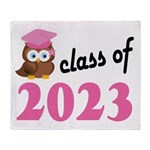 Class of 2023 (Owl) Throw Blanket