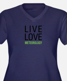Live Love Me Women's Plus Size V-Neck Dark T-Shirt