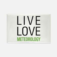 Live Love Meteorology Rectangle Magnet