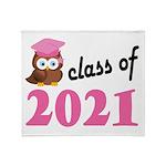 Class of 2021 (Owl) Throw Blanket