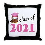 Class of 2021 (Owl) Throw Pillow