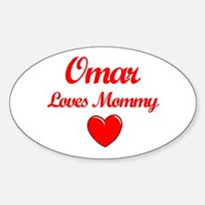 Omar Loves Mommy Oval Decal