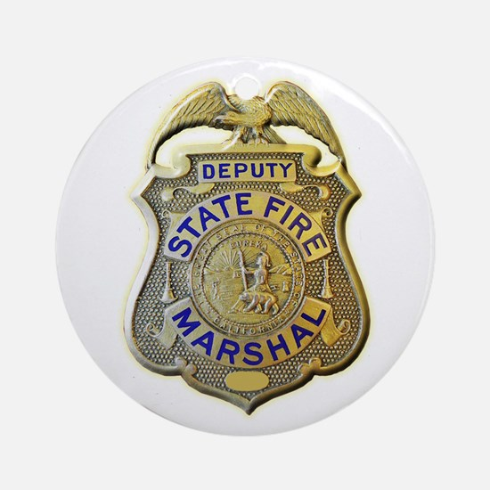 California Fire Marshal Ornament (Round)