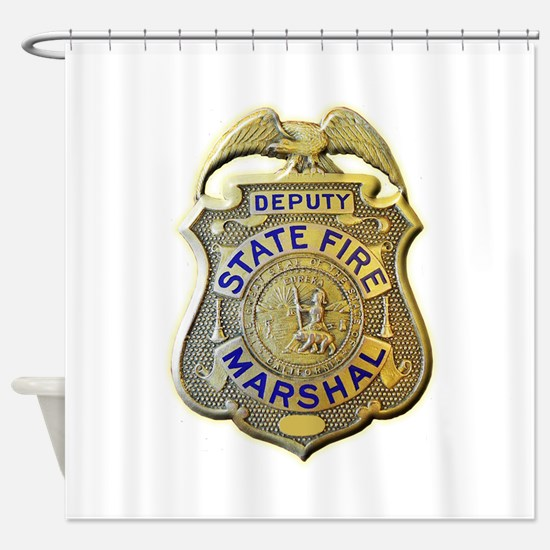 California Fire Marshal Shower Curtain