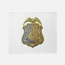California Fire Marshal Throw Blanket