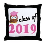 Class of 2019 (Owl) Throw Pillow