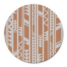 Tribal South Western Art Round Car Magnet