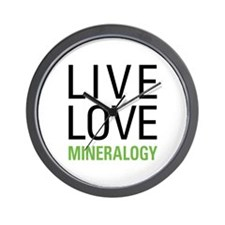 Live Love Mineralogy Wall Clock