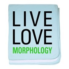 Live Love Morphology baby blanket