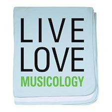 Live Love Musicology baby blanket