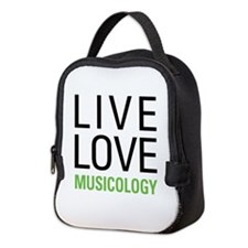 Live Love Musicology Neoprene Lunch Bag