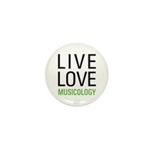 Live Love Musicology Mini Button (10 pack)