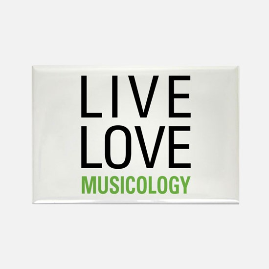 Live Love Musicology Rectangle Magnet