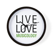Live Love Musicology Wall Clock
