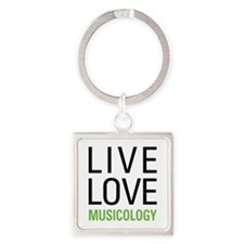 Live Love Musicology Square Keychain