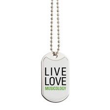 Live Love Musicology Dog Tags