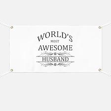 World's Most Amazing Husband Banner