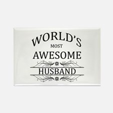 World's Most Amazing Husband Rectangle Magnet