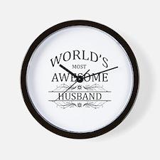 World's Most Amazing Husband Wall Clock