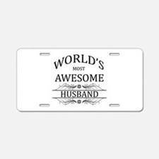 World's Most Amazing Husban Aluminum License Plate