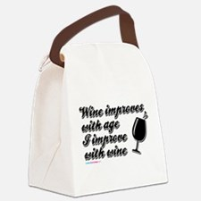 Wine improves with Age Canvas Lunch Bag