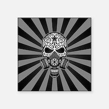 Gray and Black Post Apocalyptic Sugar Skull Sticke