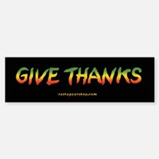 Rasta Give Thanks Bumper Bumper Bumper Sticker