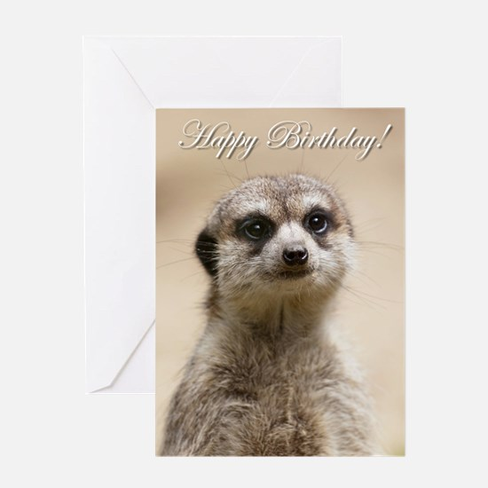 Meerkat Birthday Greeting Cards – Ferret Birthday Card