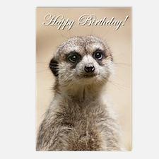 Happy Birthday Meerkat Postcards (package Of 8)