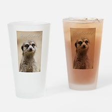 Happy Birthday Meerkat Drinking Glass