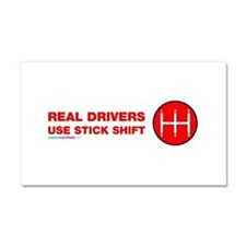 Real Drives Use Stick Shift Car Magnet 20 x 12