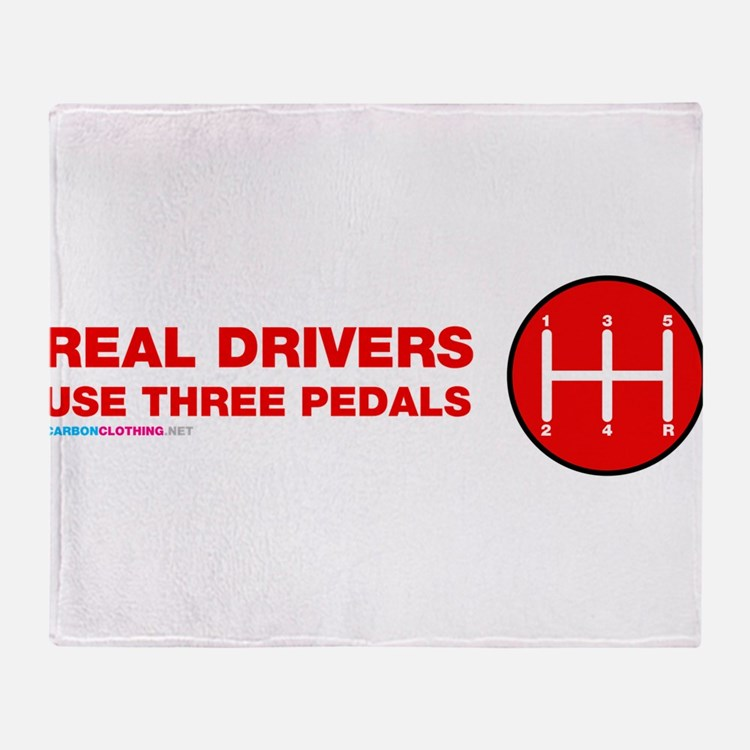 Real Drivers Use Three Pedals Throw Blanket