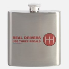Real Drivers Use Three Pedals Flask