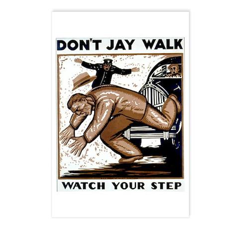 Don't Jaywalk ! Postcards (Package of 8)