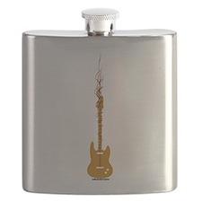 rock Guitar Waves Flask