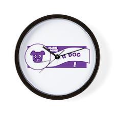 Make Mine Dog Wall Clock