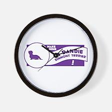 Make Mine Dandie Wall Clock