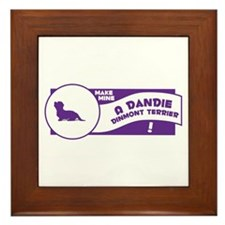 Make Mine Dandie Framed Tile