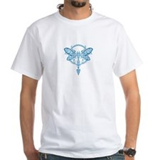 Blue Swirling Tribal Dragonfly T-Shirt