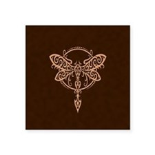 Brown Swirling Tribal Dragonfly Sticker
