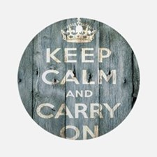 modern keep calm and carry on fashion Ornament (Ro