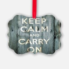modern keep calm and carry on fashion Ornament