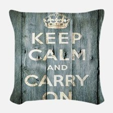 modern keep calm and carry on fashion Woven Throw