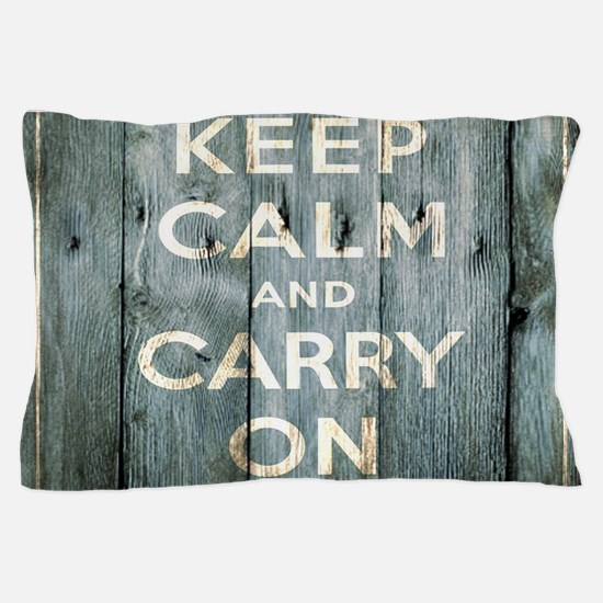 modern keep calm and carry on fashion Pillow Case