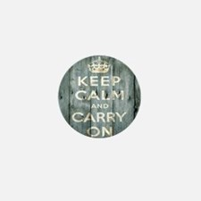 modern keep calm and carry on fashion Mini Button