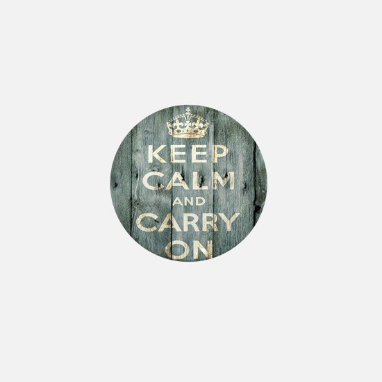 modern keep calm and carry on fashion Mini Button