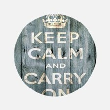 "modern keep calm and carry on fashion 3.5"" Button"