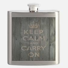 modern keep calm and carry on fashion Flask
