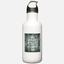 modern keep calm and carry on fashion Water Bottle