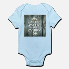 modern keep calm and carry on fashion Body Suit